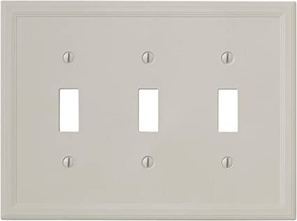 Insulated Triple Toggle Gray Light Switch Cover Decorative Outlet Cover Wall Plate