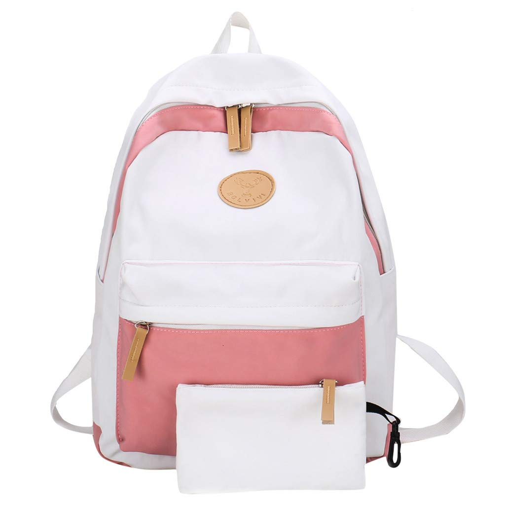 4c8c6332b2e5 Amazon.com: Lightweight Backpack for School, Yezijin Female Student ...