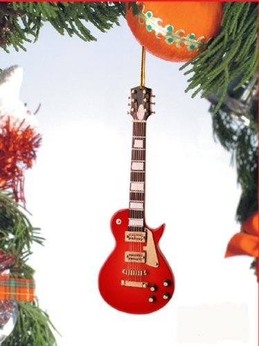 Les Paul Electric Guitar Tree Ornament (Red)