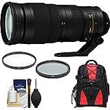Nikon 200-500mm f/5.6E VR AF-S ED Nikkor Zoom Lens with Backpack + Filters Kit = D3300, D5300, D5500, D7100, D7200, D610, D750, D810, D4s Camera
