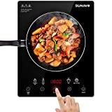 SUNAVO Induction Cooktop Portable Countertop Burner 1800W with Timer 15 Temperature Power Setting CB-I11A