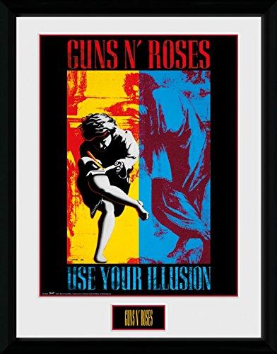 Illusion Gerahmtes Poster F/ür Fans Und Sammler 40 x 30 cm 1art1 106801 Guns N Roses