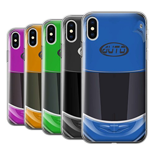 Stuff4 Gel TPU Hülle / Case für Apple iPhone X/10 / Pack 10pcs / Motorradhelm Kollektion
