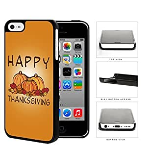 Happy Thanksgiving Pumpkin Display Hard Plastic Snap On Cell Phone Case Apple iPhone 5c by icecream design