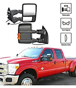 2008 2015 ford f 250 f 350 super duty towing mirrors pair. Black Bedroom Furniture Sets. Home Design Ideas