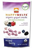 HAPPYMETLS Organic Yogurt Snacks for Babies and Toddlers, Mixed Berry, 1-Ounce Pouch ( Value Bulk Multi-pack) by HAPPYBABY
