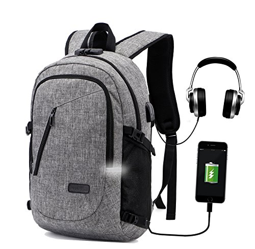Travel Laptop Backpack,Anti Theft Computer Bag College School Bookbag with  USB Charger Port   272aa7b625