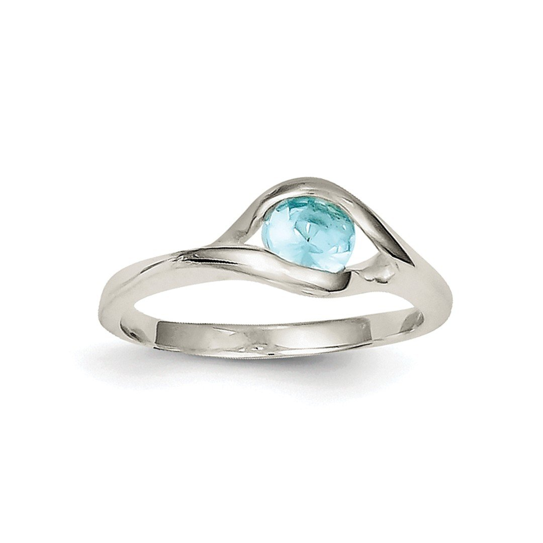 ICE CARATS 925 Sterling Silver Blue Glass Band Ring Size 6.00 Fine Jewelry Ideal Gifts For Women Gift Set From Heart