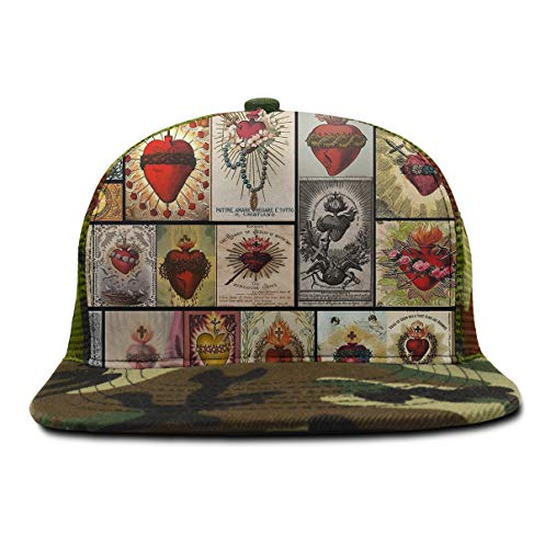 YongColer New Snapback Flatbrim Cap, Cool Hip Hop Hat Men's Adjustable Baseball Caps (Sacred Heart College Cross Heart) ()