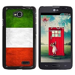 Paccase / SLIM PC / Aliminium Casa Carcasa Funda Case Cover - National Flag Nation Country Italy - LG Optimus L70 / LS620 / D325 / MS323