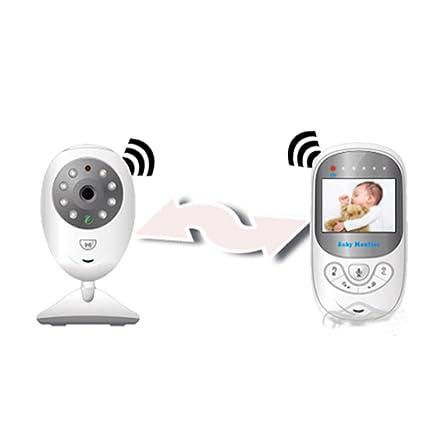 """Vigilabebés con cámara Bebé Monitor inalámbrico de vídeo LCD 2.4"""" con Visión Nocturna Vigilancia de"""