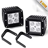DOT 3X3 Cube Pods Flood OffRoad Driving Fog Lights Reverse Backup Windshield Work Lamp For Boat Truck Bumper Lamp Jeep Wrangler Cherokee Xj Rubicon Jk Marine Rzr Dodge Ram 1500 Ford F150 Atv Golf Cart