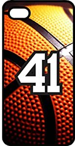 iphone covers Basketball Sports Fan Player Number 41 Black Rubber Decorative Iphone 6 4.7 Case