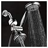 shower head hose filter - HotelSpa Ultra-Luxury 3-in-1 Shower Gift Set. Includes 3-Way 30-Setting Shower Head / Handheld Combo and 3-Stage Shower Filter with Replaceable Cartridge. Enjoy Spa Luxury PLUS Better Shower Water!