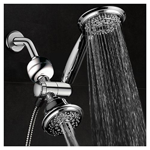 HotelSpa Ultra-Luxury 3-in-1 Shower Gift Set. Includes 3-Way 30-Setting Shower Head / Handheld Combo and 3-Stage Shower Filter with Replaceable Cartridge. Enjoy Spa Luxury PLUS Better Shower Water!
