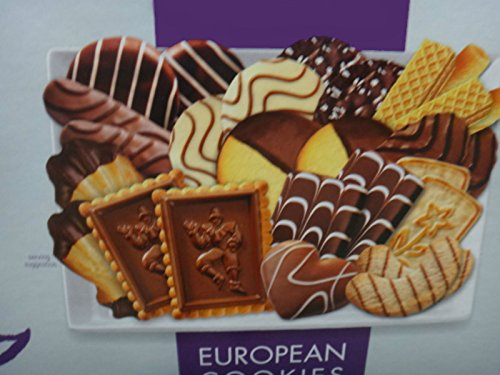 - Kirkland Signature European Cookies with Exquisite Chocolate Collection 14 Vareties Flavor Exquisite European Biscuit Cookies Assortment Made with 32% Chocolate European Chocolate - 2.2 Lb (1 Kg)