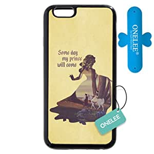 "Funda iphone 6s Caso Case,Disney Snow blanco Princess Funda iphone 6S 4.7"" Caso Case negro"