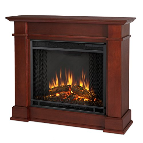 Espresso Electric Fireplace Package - 5
