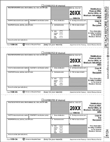 Amazoncom Egp Irs Approved 1099 Sa Recipient Copy B Tax Form