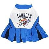 Pets First NBA Oklahoma City Thunder Dog Cheerleader Dress, Medium