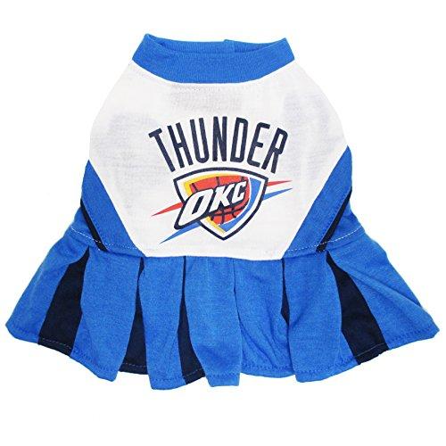Pets First NBA Oklahoma City Thunder Dog Cheerleader Dress, Small