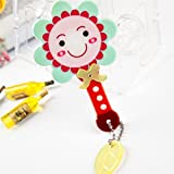 Childrens Mirror Mini Square Shape Sunflower Pattern Hand Mirror Small Glass Mirrors for Crafts Decoration Cosmetic Accessory