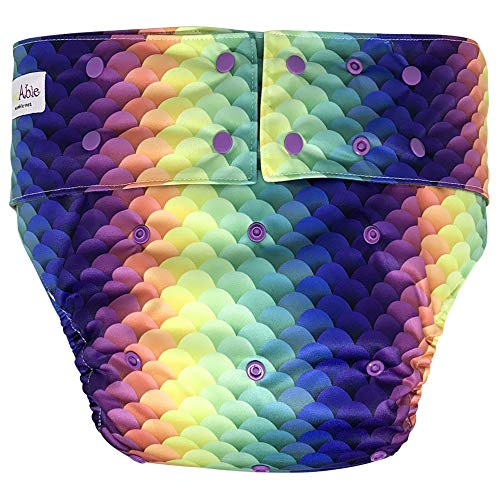 Reusable Adult Diapers for Women and Men - Teen Adult Special Needs Incontinence Cloth Diaper (Mermaid