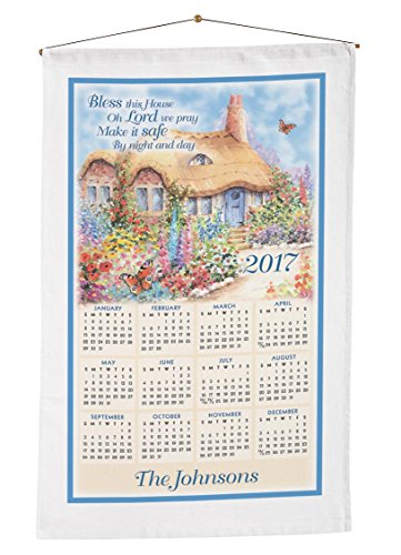 Bless House Personalized Calendar Towel