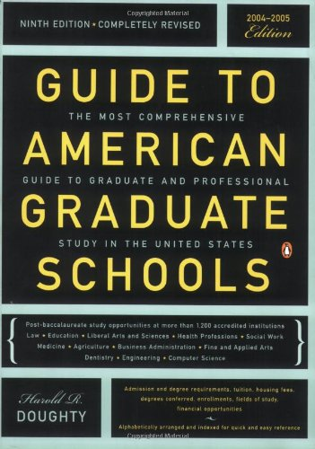 Guide to American Graduate Schools: Ninth Edition, Completely Revised