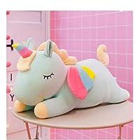 Tickles Blue Rainbow Angel Unicorn Plush Soft Toy for Kids Diwali Christmas Gift 30 cm
