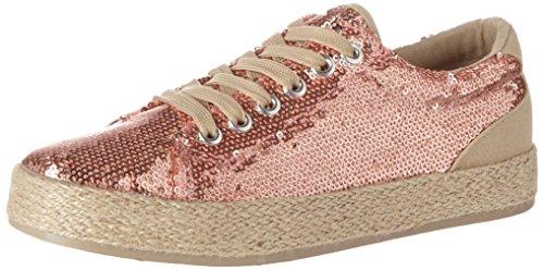 de M9914 Zapatos Rose Multicolor Cordones Mujer silver Derby 31 Rieker para Sand SEFqwqd