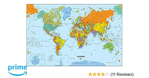 Wall Pops WPE1898 World Dry Erase Map Decal, Multi-Color Dry Erase Maps on travel map, rainbow map, magnetic map, butterfly map, disney map, peel stick wall map, stars map, halloween map, dry line map, metal map,