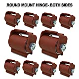 Guardian Driveway Heavy Duty Gate Hinge Round Mount Both Sides with grease fitting ( Lot 10 )