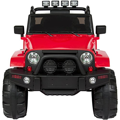 51Nm1cFdYVL - Best Choice Products 12V Ride On Car Truck w/ Remote Control, 3 Speeds, Spring Suspension, LED Light - Red