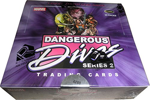 Ritttenhouse 2014 Marvel Dangerous Divas Series 2 Factory Sealed Card Box with Sketch (Sexiest Marvel Women)