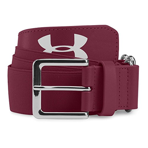 Under Armour Mens Baseball Belt, Maroon/Maroon, One Size