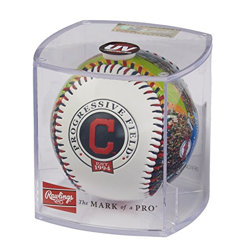 Cleveland Indians Display Baseball (Rawlings MLB Cleveland Indians 05860014111MLB Stadium Baseball (All Team Options), Red, One Size)