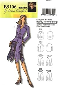 Butterick 5106 sewing pattern makes Connie Crawford Jacket and Skirt makes Womens sizes XXL-6X