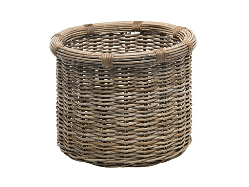 Kouboo 1060106 Rattan Kobo Round Log and Storage Basket, Gray (Fireplace Basket Wood)