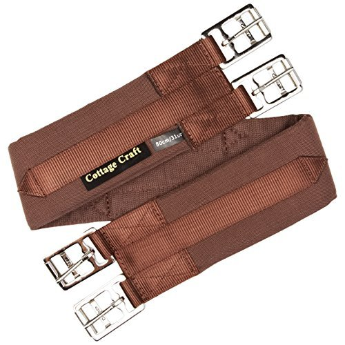 Cottage Craft Standard Girth With Airflow - Brown, 120 cm by Cottage Craft