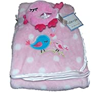 Cutie Pie Two Piece Bird Baby Blanket | 30 X 36 in