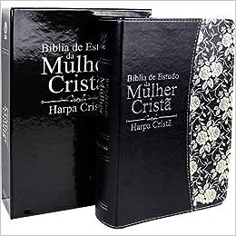Bíblia de Estudo da Mulher Cristã - Preta Média com Harpa