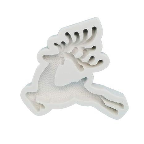 Ruiting Moldes de la Torta de Navidad Moose Silicona Pasta de azúcar del Molde para Hornear