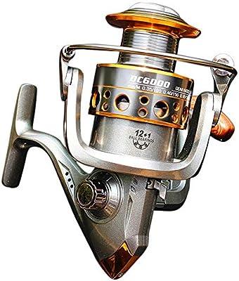 BAACHANG Carrete de Spinning, Zero Clearance Spinning Fishing Carretes de Agua Dulce, Marco de Grafito, rodamientos de Carrete de Aluminio CNC. (Color : 1000): Amazon.es: Deportes y aire libre