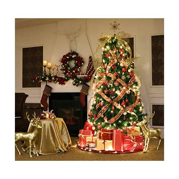 Valery Madelyn Palle di Natale 60 Pezzi di Palline di Natale, 3-5 cm di Lusso Rosso e Oro Infrangibile Ornamenti di Palla di Natale Decorazione per la Decorazione Dell'Albero di Natale 7 spesavip