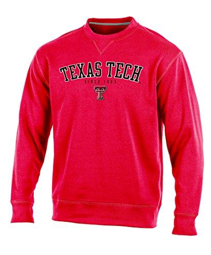 (Champion NCAA Texas Tech Raiders Adult Men Crew Neck Fleece, X-Large, Red)