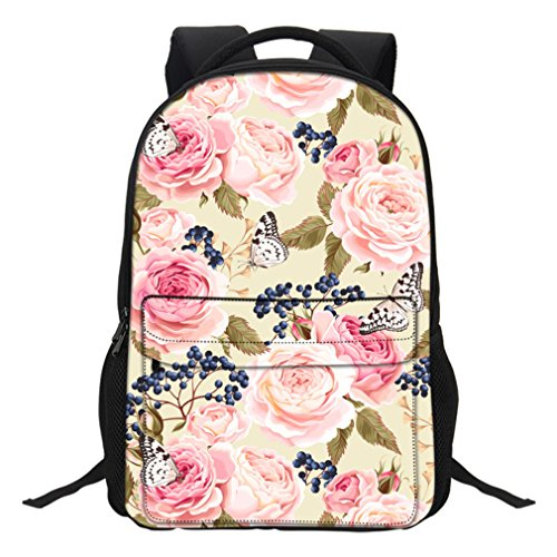 Amazon.com: Feathea Women School Backpacks Travel Laptop 3D Prints Butterfly Floral Shoulder Bags 58: Sports & Outdoors