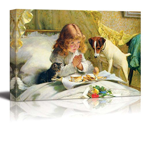 Suspense by Charles Burton Barber Print Famous Painting Reproduction