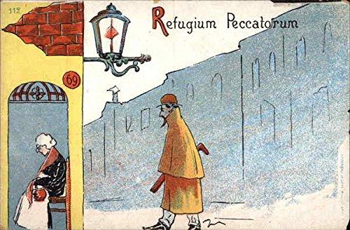 Large Refugium (Refugium Peccatorum - Refuge of Sinners Art Original Vintage Postcard)