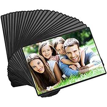 Magicfly Magnetic Photo Frame, Pack of 30, Fits 4 X 6 Inch Photos, Magnetic Picture Frame with Clear Photo Pocket for Refrigerator, Fridge, Office Cabinet, Black